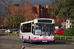 First Glasgow LN51 DUV (41448) | Route 81 | Clydebank Bus Station, W. Dunbartonshire (Strathclyder) Tags: first glasgow firstglasgow dennis dart slf marshall capital ln51 duv ln51duv 41448 clydebank chalmers street west dunbartonshire scotland willowleaflivery scotstoun md256 firstlondon firstcentrewest dm448 dm41448