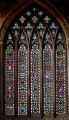 Melton Mowbray, St Mary's church, West window (Jules & Jenny) Tags: stainedglasswindow meltonmowbray stmaryschurch