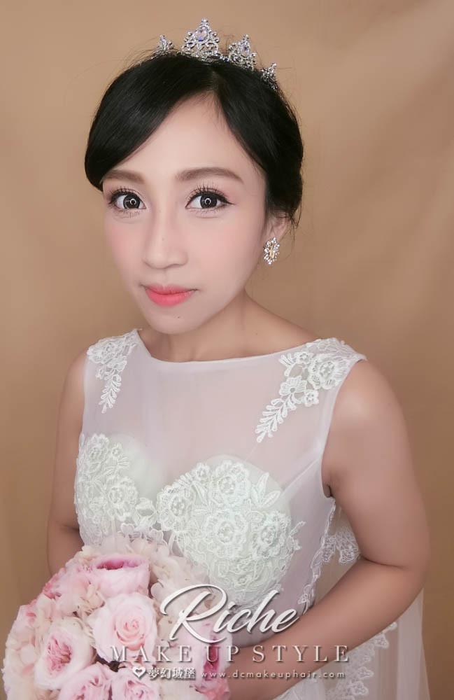 【新秘RICHE】新娘造型創作 / 優雅白紗造型