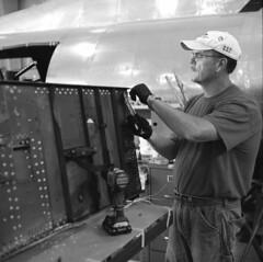bp2m (pavel photography) Tags: flyingfortress b17bomber champaignlady bwfilm blackandwhitefilm mediumformatfilm mediumformat monochrome ilford superikonta