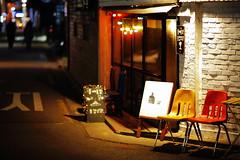 2045/1725:z (june1777) Tags: snap street seoul hongdae night light bokeh canon eos 5d ef 85mm f12 ii 1600 clear