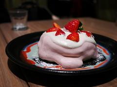 Strawberry Pancakes (Long Sleeper) Tags: sweets dessert food cafe takakuramachicoffee 高倉町珈琲 pancake pancakes ricottapancakes strawberrypancakes fruit strawberry strawberries whippedcream hachioji tokyo japan dmcgx1
