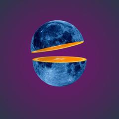moon orange slice (https://tinyurl.com/jsebouvi) Tags: piece top jsebouvi art artist orange fruit star planet decoration imagination surrealism new