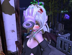 haunted headpats (Yukiterudiary) Tags: kemono sophia mesh anime hallowween sl second life tamagosenbei arcade gacha cute kawaii embw