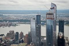 View of Hudson Yards from the Empire State Building (86th Floor), Midtown Manhattan, NY (AperturePaul) Tags: newyorkcity newyork city unitedstates america manhattan nikon d600 architecture hudsonyards empirestatebuilding view observatory skyscraper skyscrapers