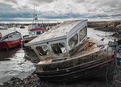 Jennifer (Anologital) Tags: teeside jennifer boat wreckage port harbour coastal england wood broken omdem1 olympus zuiko 1240mm