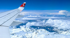 The sky is the limit! (b.kuehweidner) Tags: luftbild himmel sky landschaft landscape schnee swiss schweiz alpen alps blau blue wolken clouds
