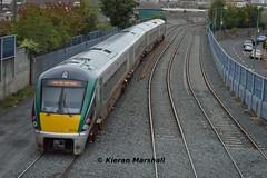 22019 departs North Wall, 25/9/18 (hurricanemk1c) Tags: railways railway train trains irish rail irishrail iarnród éireann iarnródéireann 2018 22000 rotem icr rok 4pce 22019 1115northwallheuston radiotesttrain dublin northwall