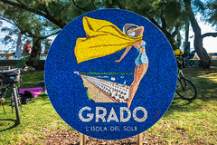 Grado Italy.  A beach community for the inland folk to visit.  Sometimes people visiting Venice come here to see the beach.