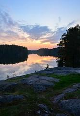 Lake Valkjärvi (Villikko) Tags: lake sunset auringonlasku järvi valkjärvi hausjärvi finland summer kesä kesäyö night nature landscape