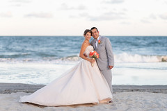 Bride and groom from Colombia by the ocean with a pretty sunset - Grande Dunes Ocean Club (Ryan Smith Photography) Tags: bride colombian couple grandedunesoceanclub groom romantic sunset wedding weddingphotography myrtlebeach httpswwwryansmithphotographycom