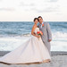 Bride and groom from Colombia by the ocean with a pretty sunset - Grande Dunes Ocean Club