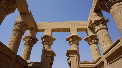 The Kiosk of Trajan, the Temple of Isis, Philae, Agilkia Island, Laker Nasser, Aswan, Egypt.