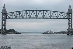 Cape Cod Canal Railroad Bridge (alfredo.rossitto) Tags: canonefs55250mmf456isstm canonef55250mmf456isstm canonef55250mm train canont6i t6i canon capecodcanalrailroadbridge capecod canal railroad bridge water ocean boat boats sky cloudy