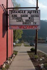 No Vacancy (repete7) Tags: colorado silvertoncolorado milliondollarhighway trianglemotel novacancy canon canoneosm100 canonefm22mm sign neon