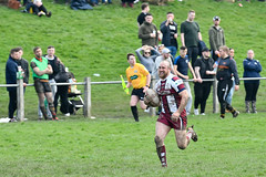 Out in the open (Steve Barowik) Tags: yorkshire westyorkshire nikond500 barowik leeds ls26 stevebarowik sbofls26 rugbyleague rl nationalleague 70200mmf28gvrii sport competition try conversion penalty sinbin referee linesman ball pitch sticks posts team watercarrier dx cropframe kick pass offload dropkick forwardpass centre wing prop forward back fullback unlimitedphotos wonderfulworld quantumentanglement shawcrosssharks thornhilltrojans nationalconferencedivisionone
