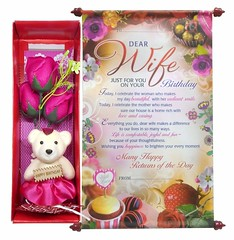 Birthday Scroll Card and Gift Box for Wife (mywowstuff) Tags: gifts gift ideas gadgets geeky products men women family home office