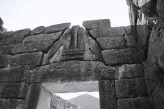fullsizeoutput_93a9 (lnewman333) Tags: mycenae peloponnese greece europe ancient archaeologicalsite historic citadel gate liongate lion blackandwhite ancientgreece
