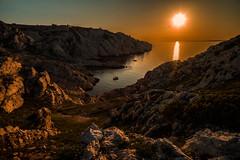Island idyl...... (Dafydd Penguin) Tags: island isyl anchotrage boat creek estuary bay sun sunset dusk light sea water rocks landscape iles du friuol marseille france mediterranean cruise caostal coast coastal yacht leica m10 elmarit 21mm f28