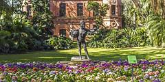 Jardin Botanico - Buenos Aires Cap. (Dj_morex) Tags: jardinbotanico argentina buenos aires flowers statue estatua grass cesped fuente