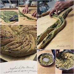 facendo angelica con pesto (cindystarblog) Tags: wbd pane bread sweetbread panidolci pesto erbearomatiche semi seeds