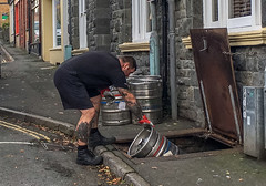 290/365 - Animal & Mineral (Down the Hatch)! (Nikki M-F) Tags: wales uk pub beer hatch barrel delivery
