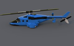 Bell-222 Moc (Tyutyu the E-wing guy) Tags: bell 222 airwolf heli helicopter hover bluerender ldd custom moc rotor turbine orca killer whale two toned aircraft cockpit airplane sky 3222 lego business warbird jet dolphin