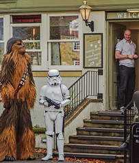 families, dogs & muddy boots (lowooley.) Tags: allendale inn wookie stormtrooper
