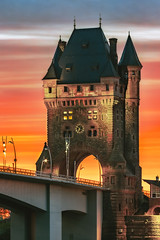 Nibelungenturm (Marc Braner) Tags: ifttt 500px historic steeple castle landmark tower bell cathedral gothic famous place architecture old town square nibelungenturm worms germany rhinelandpalatinate europa bridge nibelungenbrücke sunset dusk sndown orange sky clouds cloudy colorful beautiful beauty