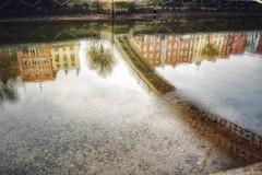 Halfpenny Reflection (podolux) Tags: nikon nikondx dx nikond40 liffey riverliffey dublin ireland 2007 reflection colors