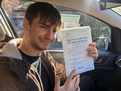Massive congratulations  to Dan Spencer (El Dani) for passing his driving test on his first attempt with only 1 minor fault! El Dani Good as gold! 😂  www.leosdrivingschool.com
