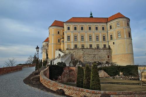 Mikulov castle before sunset