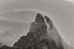 Cloud Flow Over Mountain Top (aha42   tehaha) Tags: baitasegantini italia italy passorolle clouds mountain mountains primierosanmartinodicastrozz trento primierosanmartinodicastrozza it bw