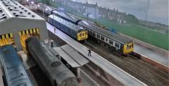 Carlton Wynn Station. (ManOfYorkshire) Tags: carltonwynn scale model railway train layout 176 oogauge shildon show exhibition 2018 railblue diesels dmu station 2platforms