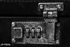 Sworn to Secrecy (smzoha) Tags: matching identical lock metal old age aged rust rusty blackandwhite bw monochrome duotone macro macromonday perfectmatch closeup numbers triple zero