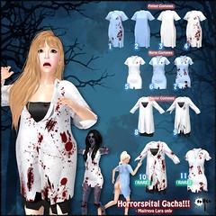 Horrorspital!!! Gacha (Halloween Special) (NyuNyu Kimono, NYU!) Tags: secondlife nyu salem gacha halloween doctor nurse patient hospital costume roleplay