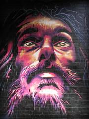 Lookin' up, Digbeth, Birmingham (Wagsy Wheeler) Tags: birmingham citycentre birminghamcitycentre graffiti art streetart publicart face custardfactory paint painting spray brick bricks digbeth