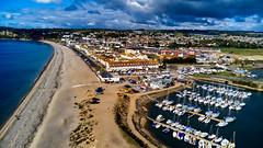 Seaton (simoncoram) Tags: seaton devon sea harbour dji mavic drone sky boats water axe axminster chesil baech