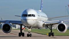 N34131 (AnDyMHoLdEn) Tags: unitedairlines 757 staralliance egcc airport manchester manchesterairport 23l
