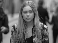 Unperturbed (Stuart Mac) Tags: face eyes candid street spotted beauty d750 135mm woman stare london look mascara