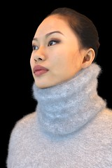 Mei 2 (Triss Meredith) Tags: wool fetish scarf sweater blindfold angora mohair