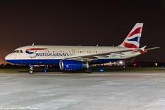 British Airways G-EUPL HAJ at Night (U. Heinze) Tags: aircraft airlines airways airplane planespotting plane haj hannoverlangenhagenairporthaj eddv flugzeug nikon night nightshot