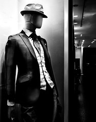 024693763908-105-Mannequin in the Window-2-Black and White (Jim There's things half in shadow and in light) Tags: 2018 america city lasvegas nevada night october southwest strip usa autumn fall mannequin store street blackandwhite monochrome