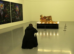 Homage... (Michele's POV) Tags: gallery artwork photographer sculpture hightdensityfoam artificialflowers jewels lightbulbs zeitzmocaa