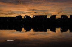 North Dock silhouette (stevenbailey7) Tags: silhouette shadows orange sunsets water waterreflections new nikon october autumn cool nice awsome beautiful nature seascape waterscape landscape clouds cloudscape black flickr wales walescoastline coast buildings silhouettebuildings natural outside sky dramatic serene colour colourful nikkor art sun dusk day love docks leisure scenery sea skyscape naturephotography cymru
