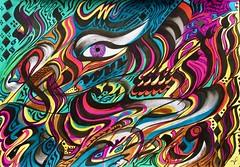 Émotion (valerierodriguez1) Tags: peinture painting encre ink art abstrait abstract color couleur