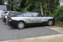 Cruiser without light bar (Throwingbull) Tags: landover hills md maryland city town incorporated municipal municipality police department dept law enforcement car vehicle cruiser marked unit