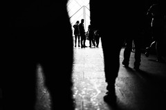 Crowd surfing (ewitsoe) Tags: paris france french louvre shadows silhouette monochrome blackandwhite mono bnw canon 5d street urban travel toruist museum people crowd crowded city cityscape atmosphee mood black white contast summer europe traveling wander