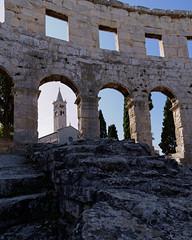 Pula Arena (llesiuk) Tags: pentax kp pula croatia arena church monastery 14mm