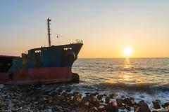 台南 / 黃金海岸 / 擱淺的貨輪 (Chester photography .) Tags: taiwan tainan sunset sony a7m3 sea beach 台灣 台南 海邊 沙灘